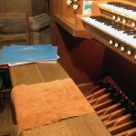 Staying put on the organ bench