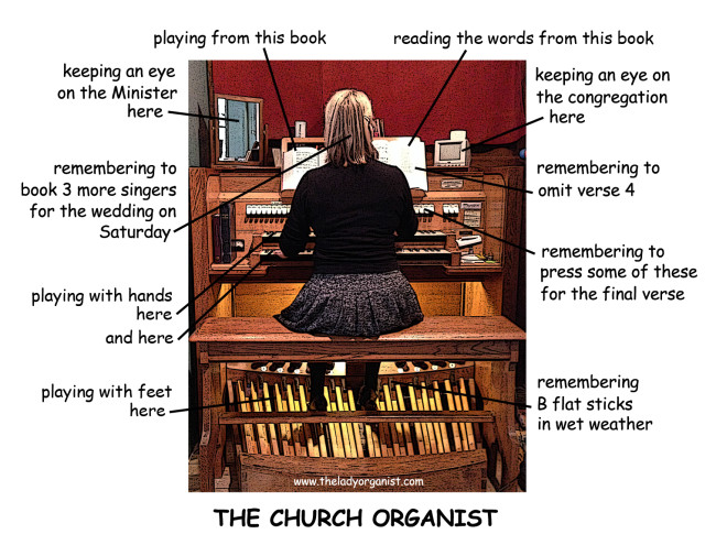 The multi-tasking organist